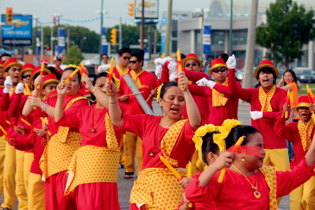 Thousands turned out to the Manitoba Filipino Street Festival in north Winnipeg taking in traditional dances, elaborate costumes and dozens of floats that made the trek down McPhillips Street on Aug. 24.