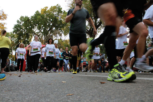 In the wake of the tragic deaths of Lisa Gibson and her two children, the Run For Mums Family Walk/Run fundraiser was held Sept. 25 in Kildonan Park. The run raised funds for the Mood Disorders Association of Manitoba and a general awareness of the risks associated with postpartum depression.