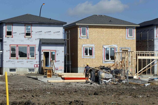 New home prices in WInnipeg climbed slightly from August to September.