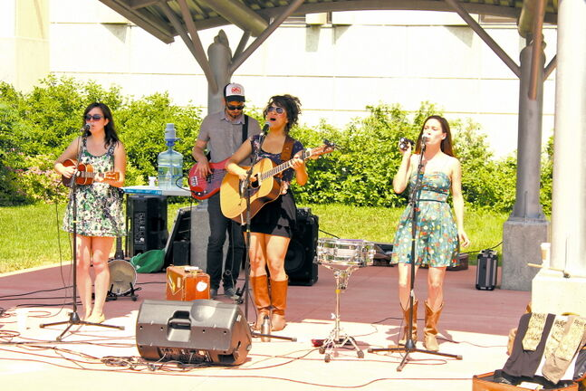 Sweet Alibi, a 2012 Canadian Folk Music Award nominee, performed in front of an appreciative crowd on Provencher Boulevard on July 3.