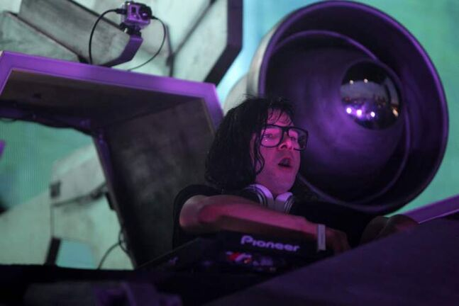DJ Skrillex at the Full Flex Express Tour at Shaw Park.