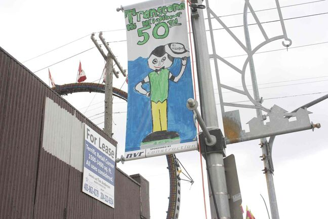 One of the 41 winning banners adorns a pole on Regent Avenue West during the 50th Transcona Hi Neighbour Festival on June 8.