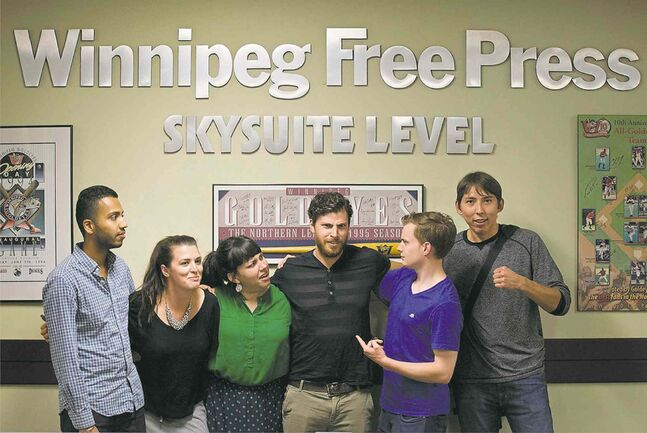 Interns (from left) Inayat Singh, Sarah Taylor, Jessica Botelho-Urbanski, Michael Shulman, Oliver Sachgau and Kyle Edwards.