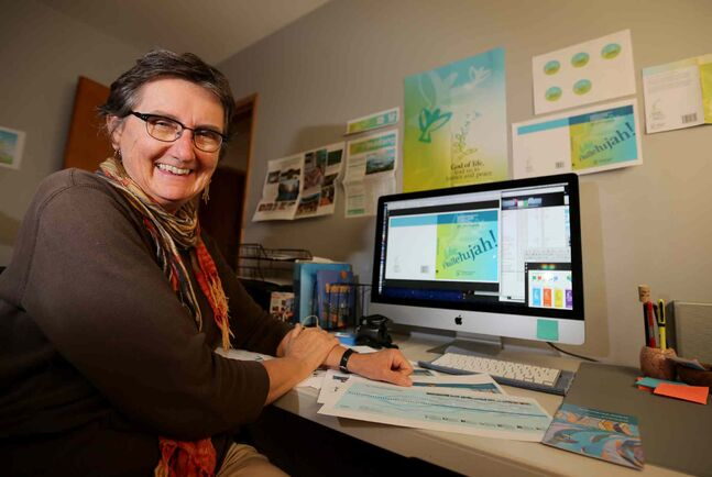 Judith Rempel Smucker, a local graphic designer, is doing work for the upcoming assembly of the World Council of Churches in South Korea.