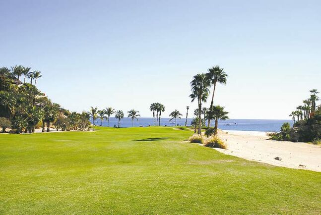 Spectacular views of the Sea of Cortes can be seen from golf courses like the Palmilla Golf Club.