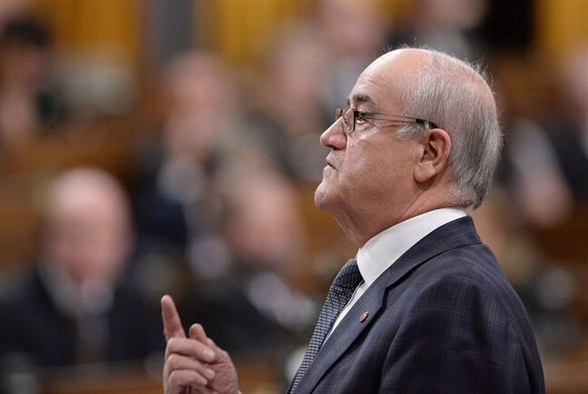 Veterans Affairs Minister Julian Fantino, on Thursday January 30, 2014. THE CANADIAN PRESS/Sean Kilpatrick