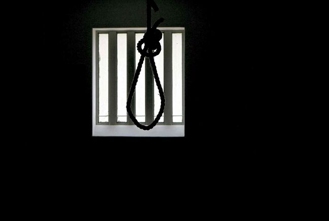 A noose hangs in the gallows at the Pretoria Central Prison. The government opened the gallows, in Pretoria, South Africa, Thursday, Dec. 15,  as a monument to those who were executed before being stopped in 1989 and abolished in 1995.