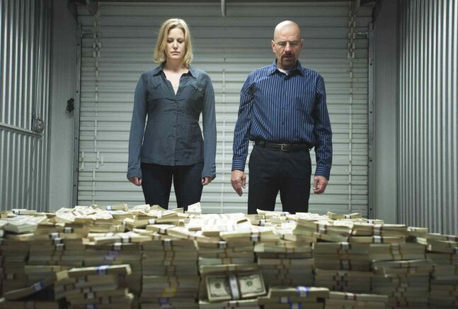 Anna Gunn, Bryan Cranston, Breaking Bad.