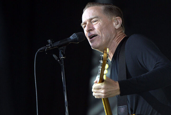 Bryan Adams performs on stage in Zurich, Switzerland this summer.