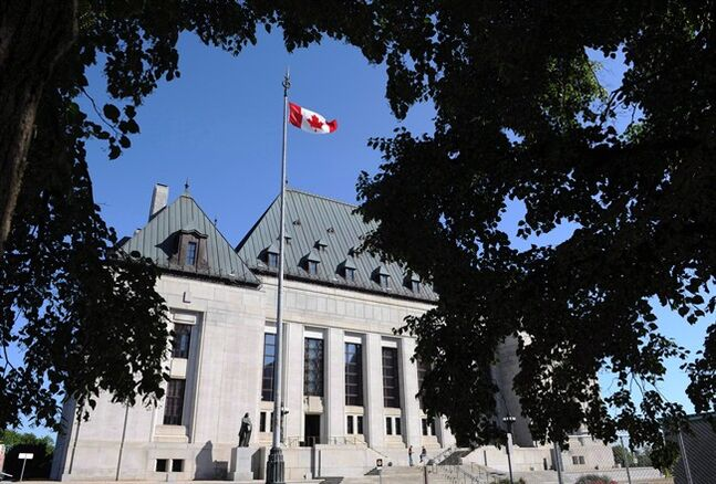 The Supreme Court of Canada in Ottawa on Tuesday, July 10, 2012. Lawyers for a B.C. bong shop owner and one of his employees will get a rare opportunity to present oral arguments as to why the Supreme Court of Canada should hear their appeal. THE CANADIAN PRESS/Sean Kilpatrick