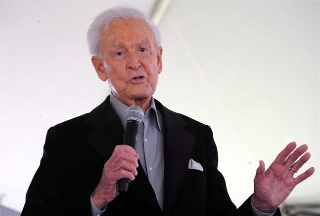 Bob Barker attends The Los Angeles Times Festival of Books at The University of California Los Angeles, in Los Angeles, Calif., April 25, 2009. Ontario is dismissing a request from TV personality Barker to scrap plans to return the spring bear hunt in the province. THE CANADIAN PRESS/AP/Katy Winn