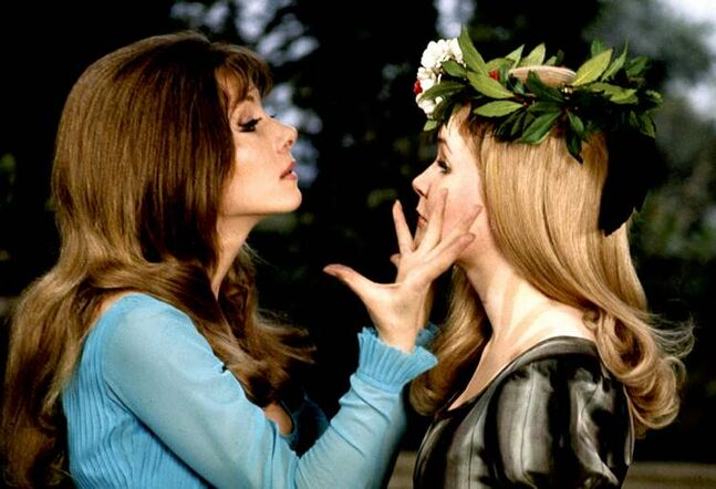 Ingrid Pitt and Pippa Steel