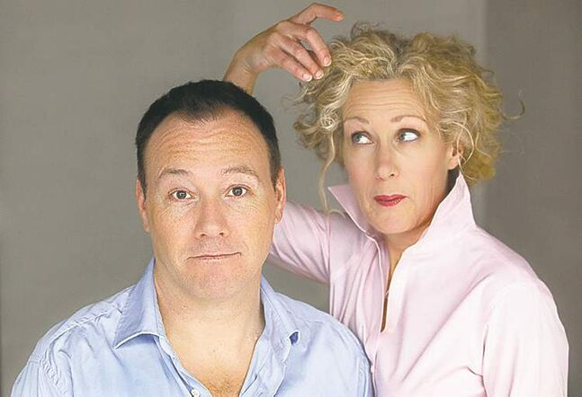 Brad Hampton and Patti Loach spill family secrets in cabaret show.