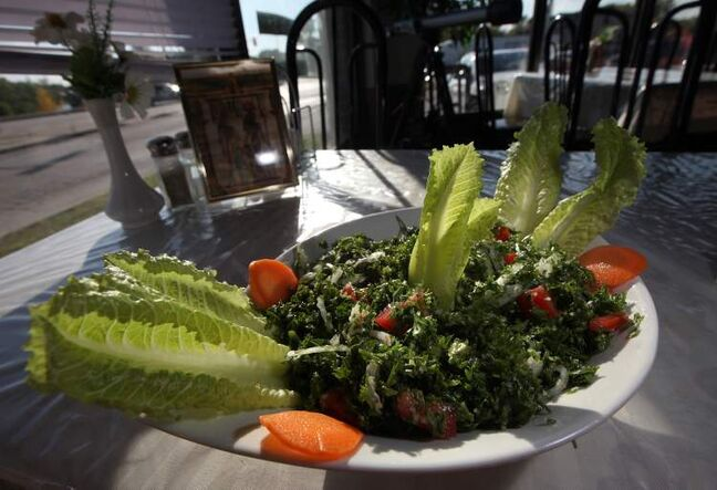 Tabbouleh salad is a standout dish at Pyramid Land.