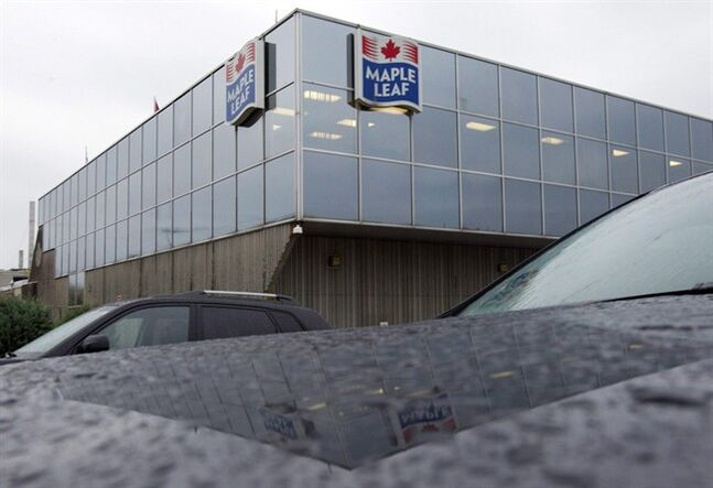 A Maple Leaf Foods plant in Toronto is pictured on Oct. 19, 2011. THE CANADIAN PRESS/Frank Gunn
