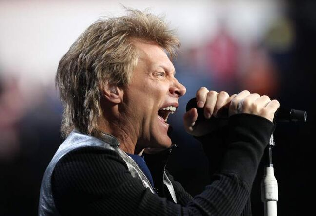 Jon Bon Jovi belts out a rocker at the MTS Centre Friday night.