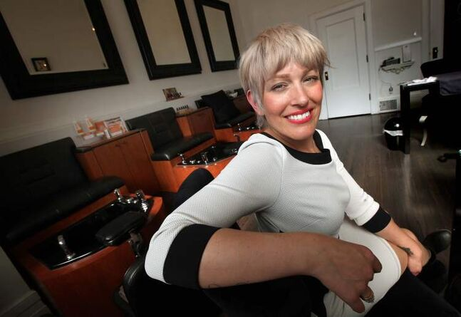Kitty Bernes of the Berns & Black Salon plans to get a licence and serve alcohol to her clients once the new rules take effect in 2014.