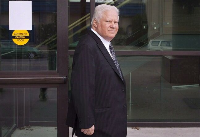 Tim Bachman leaves the B.C. Provincial Courthouse in Chilliwack, Monday, April 8, 2013. A founding member of the Canadian rock band Bachman-Turner Overdrive faces new sexual assault allegations just a year after he was acquitted of similar charges. THE CANADIAN PRESS/Eric Dreger