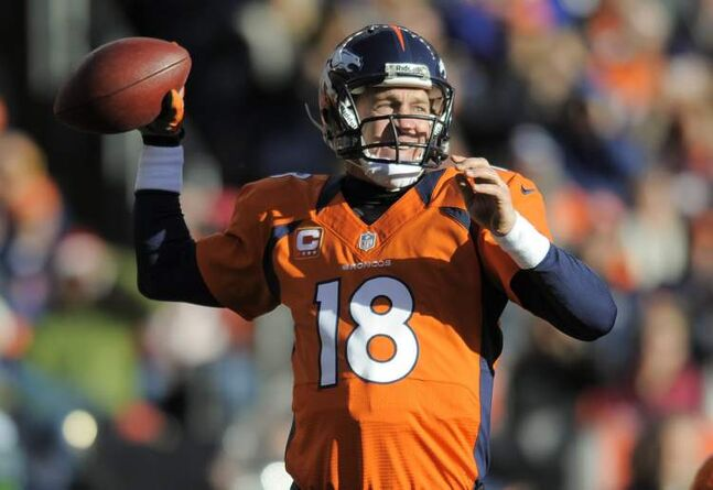 Denver Broncos quarterback Peyton Manning sets to throw a pass in the second quarter of an NFL football game against the Cleveland Browns, Sunday, Dec. 23, 2012, in Denver. Denver won 34-12.