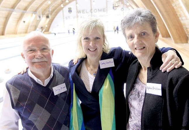 Manitoba Curling Hall of Fame inductees (from left): Jerry Brown, Cathy Gauthier and Sylvia Erickson.