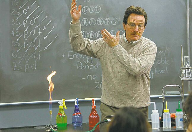 Walter White, played by Bryan Cranston, put his chemistry knowledge to nefarious but profitable use.