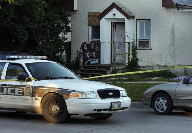 Winnipeg police  have taped off address in the 700 Block of Redwood Avenue near Parr Street after reports of gunshots.