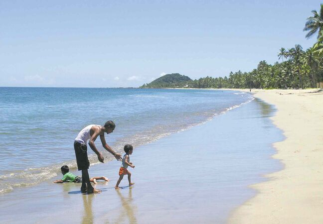 Nick Perry / the associated press Pacific Harbour Beach in Fiji seems like a nice place to be at this time of year.
