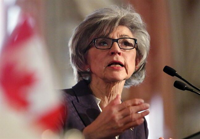 Beverly McLachlin, Chief Justice of the Supreme Court of Canada, delivers a speech in Ottawa, Tuesday, February 5, 2013. The Prime Minister's Office says Stephen Harper refused to take a call from the country's chief justice about who should be allowed to sit on the Supreme Court of Canada. THE CANADIAN PRESS/Fred Chartrand