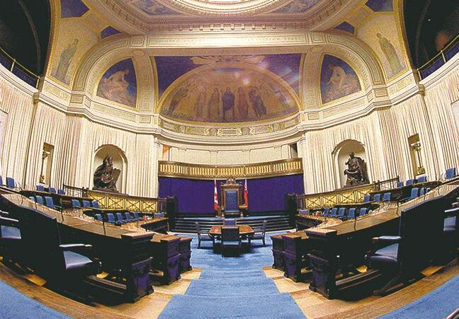 The Manitoba legislature chamber