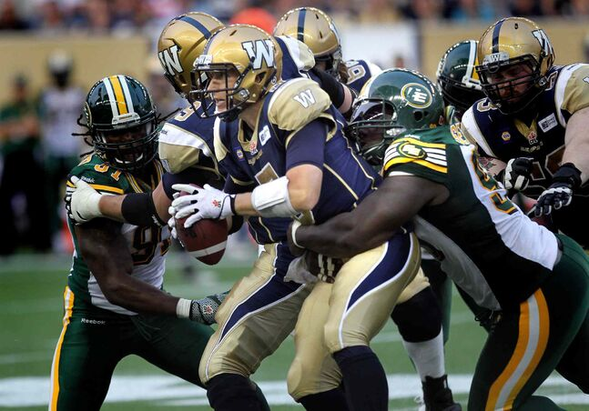 Winnipeg Blue Bombers quarterback Drew Willy got sacked four times during Thursday's game. That's unacceptable, Gary Lawless writes.