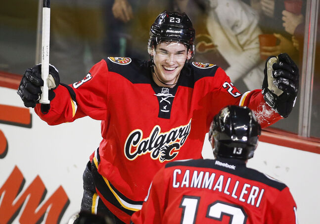 Rookie Sean Monahan scored his eighth of the season against the Oilers and was named the game's second star. He is second on the team in scoring with the eight goals and five assists.