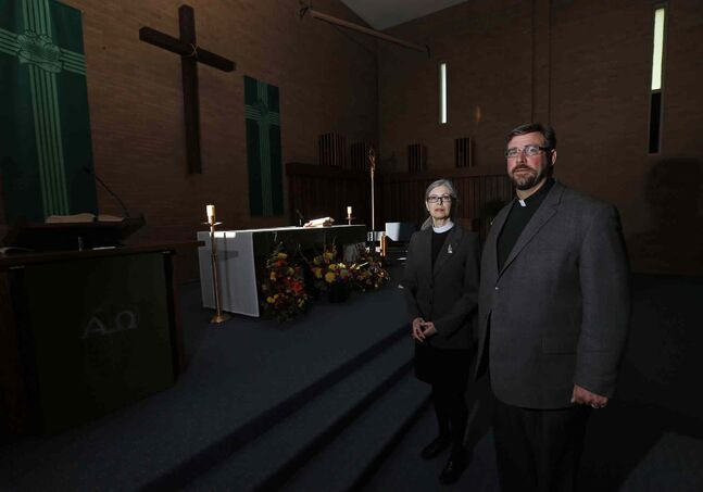 Rev. Susan Titterington of St. Chad's Anglican and Rev. Gerald Langevin of Blessed John XXIII.