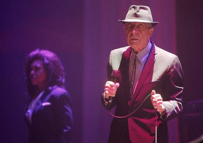 Leonard Cohen performs at the MTS Centre Friday.