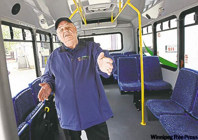 Roy Sveinson will drive Selkirk Transit's first bus.