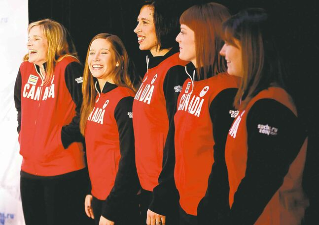 Team Jones -- Jennifer Jones, Kaitlyn Lawes, Jill Officer, Dawn McEwen and alternate  Kristin Wall -- and Team Jacobs skip Brad Jacobs officially got the nod as Canadian  Olympians from Canadian Olympic Committee president Marcel Aubut Monday.