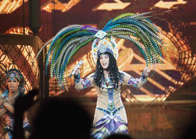 Cher performs to a sold-out crowd in Winnipeg Friday. Watching the show, according to reviewer Jen Zoratti, was like watching