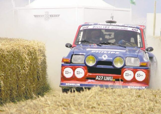 Rally Forest Stage at 2013 Goodwood Festival of Speed in England.
