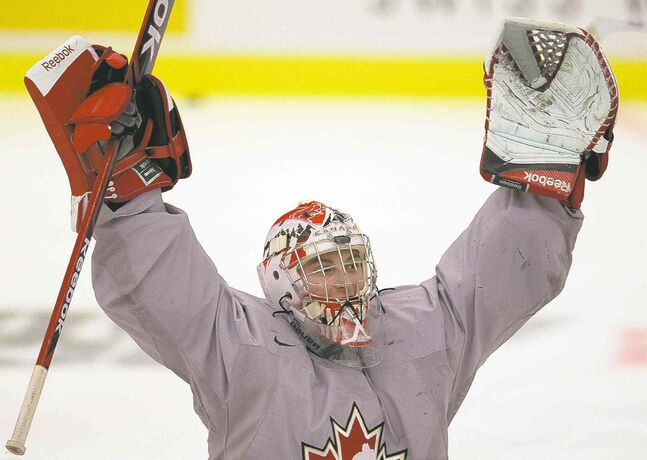 'I'll just get in the net and play the best I can. That's all I can really do' — Canada goaltender Zach Fucale