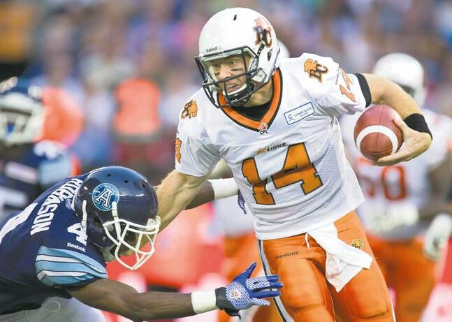 Frank Gunn / THE CANADIAN PRESS archivesLions quarterback Travis Lulay will be a stern test for a Winnipeg defence that has struggled in recent weeks.
