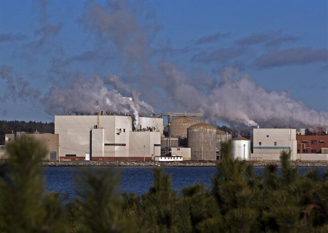 The Bowater Mersey paper mill is seen in Brooklyn, N.S. on Friday, Dec. 2, 2011. The Nova Scotia government has appointed a local business leader to head a transition program aimed at helping Queens County residents cope with the closure of a paper mill. THE CANADIAN PRESS/Andrew Vaughan
