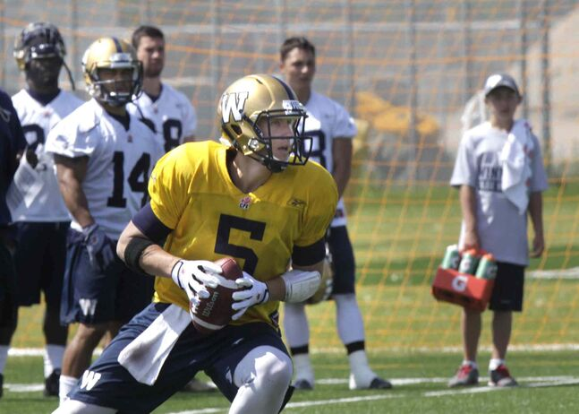 Winnipeg Blue Bombers QB Drew Willy during the team's practice at Bison field Tuesday. The Blue Bombers' next game is Friday night in B.C. against the Lions.