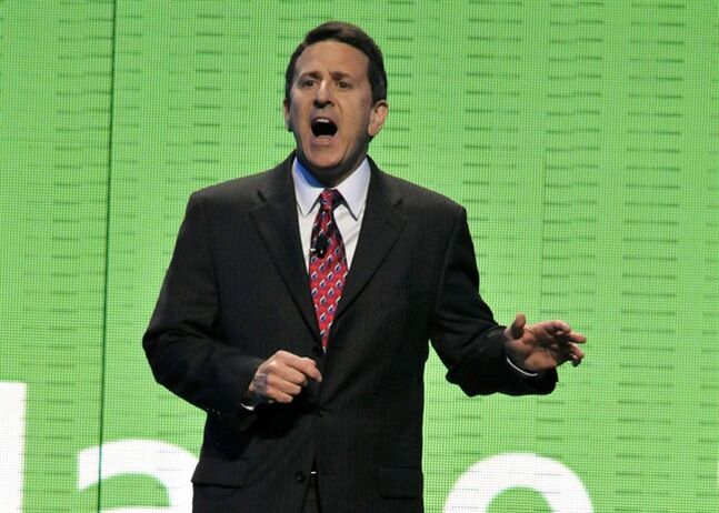 President and CEO of Sam's Club Brian Cornell speaks during the Wal-Mart Stores Inc. shareholders' meeting in Fayetteville, Ark., on June 4, 2010. THE CANADIAN PRESS/AP, April L. Brown