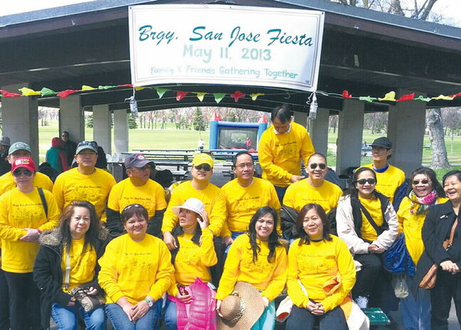 Friends and families from Barangay San Jose, a district of the City of Vigan in the Philippines, gathered at Kildonan Park on May 11.