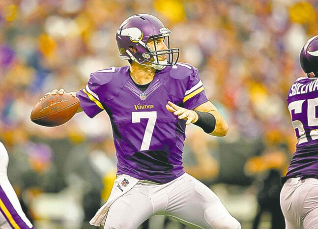 Despite suffering a rib injury in the Vikings' loss to Cleveland last weekend, quarterback Christian Ponder says he expects to start when the Vikes suit up against the Pittsburgh Steelers at Wembley Stadium in  London on Sunday.