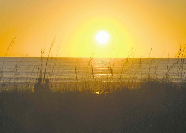 The sunsets on Sanibel are a nightly attraction.