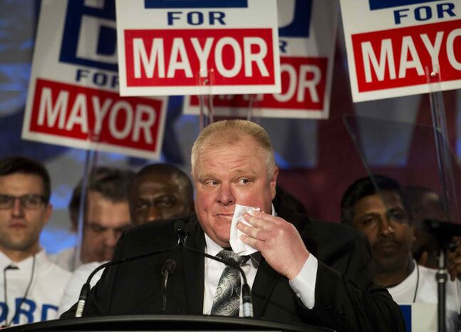 Toronto mayor Rob Ford has publicly struggled with addiction issues.