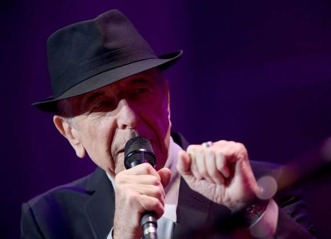 Leonard Cohen at the MTS Centre Friday.