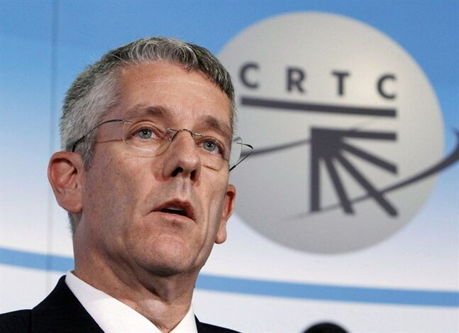 CRTC Chairman Jean- Pierre Blais is pictured in Gatineau, Que., October 18, 2012. THE CANADIAN PRESS/Fred Chartrand