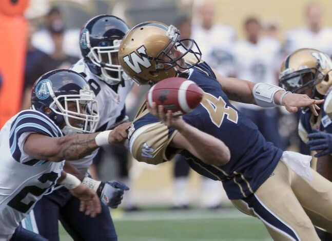 A big part of soothing fans' nerves will be keeping Buck upright, but as this pre-season game against Toronto suggests -- when Pierce was hammered three times -- the Bombers have some work to do on protecting him.