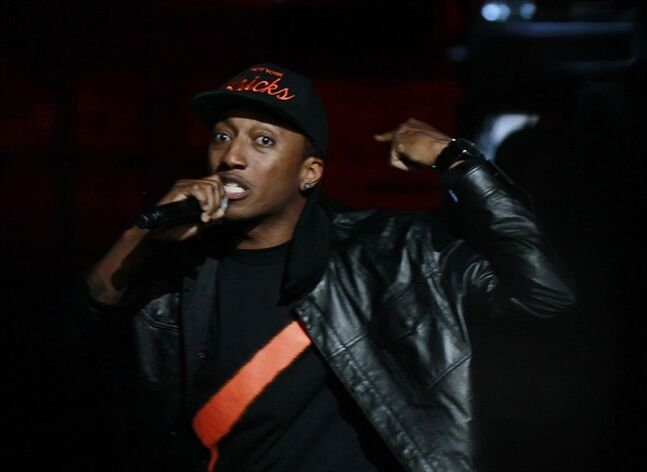 FILE -In this Thursday, April 19, 2012 file photo, Christian rap artist Lecrae performs during taping of the Gospel Music Association Dove Awards at Atlanta's Fox Theater. Lecrae laid down roots in Atlanta to advance his Gospel career. (AP Photo/John Bazemore)
